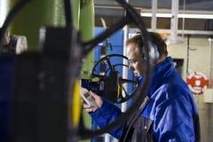 评定噪声的工程师级别 免版税图库摄影