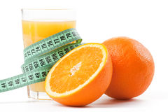 评定橙色磁带的汁液 库存图片