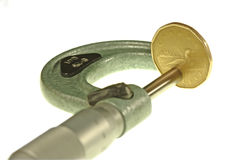 评定测微表货币 库存照片