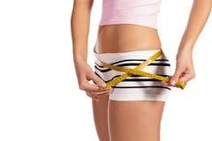 评定理想的形状妇女的美丽的臀部 库存图片