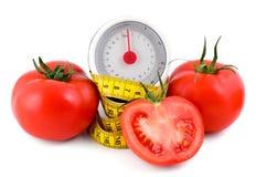评定的磁带蕃茄 免版税库存照片