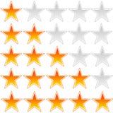 评级星形 免版税库存照片
