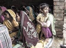 识字类在农村印度 库存照片