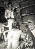 识字类在农村印度 库存图片