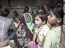 识字类在农村印度 免版税图库摄影