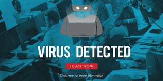 诈欺病毒间谍软件Malware抗病毒概念 免版税库存照片