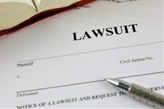 诉讼的概念图象 免版税库存图片