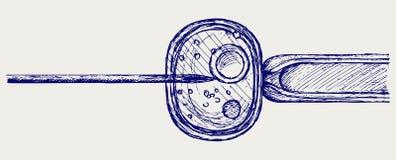 诊所受精现代运行产前vitro 库存图片