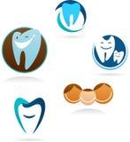 诊所收集牙齿图标 库存照片