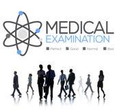 诊断健康概念的身体检查检查 免版税库存图片