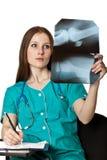 诊断医生女性文字年轻人 库存照片