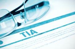 诊断- TIA 概念谎言医学货币集合听诊器 3d例证 库存图片
