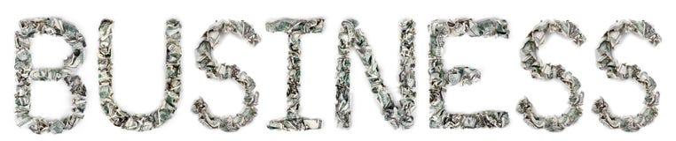事务-起皱的100$票据 免版税库存照片