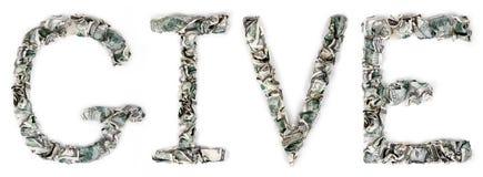 给-起皱的100$票据 免版税库存照片