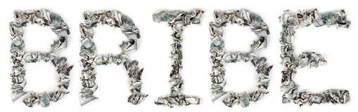 贿款-起皱的100$票据 免版税库存图片