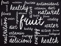 词与健康关连,写在白垩 库存照片