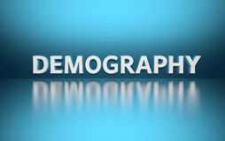词人口统计学 库存例证