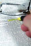 词典字 库存照片
