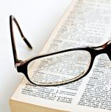 词典玻璃远见 免版税库存照片