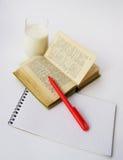 词典笔红色 库存照片
