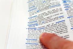 词典经济 免版税库存照片