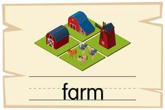 词农场的Wordcard设计 向量例证