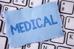 词医疗文字的文本 相关的企业概念对医学治疗科学在泪花或伤害的写的病症S 库存照片