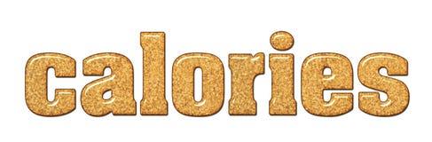 词卡路里组成由棕色蔗糖 免版税图库摄影