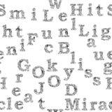 词和信件的无缝的样式 免版税图库摄影