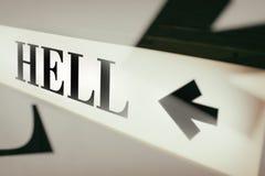 词地狱的标志 免版税库存照片