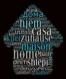 词家用不同的语言 免版税库存照片