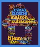 词家用不同的语言 免版税库存图片