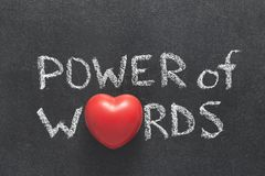 词心脏的力量 库存照片