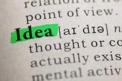 词想法的定义 免版税图库摄影