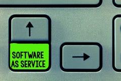 词文字作为服务的文本软件 在要求时准许在订阅和在中心主持的企业概念 图库摄影
