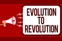 词文字对革命的文本演变 适应的企业概念生活方式生物的和人供以人员举行Meg 免版税图库摄影