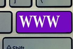 词文字文本万维网 网上内容网络的企业概念在HTML格式化了并且通过HTTP访问了 免版税库存图片