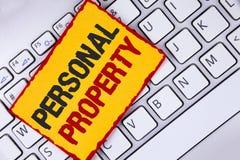 词文字文本个人财产 财产财产财产在稠粘写的私人个体所有者的企业概念 库存照片