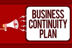 词文字文本企业连续性计划 创造的系统预防成交潜在的威胁人企业概念 向量例证