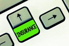 词文字文本保险 安排公司或状态的企业概念能保证为指定的损失 库存图片