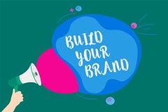 词文字文本修造您的品牌 Make的企业概念一个商业身分营销广告转达消息想法sp 库存例证