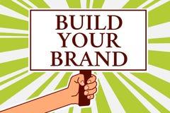 词文字文本修造您的品牌 Make的企业概念商业身分营销广告布告牌标志sc 向量例证