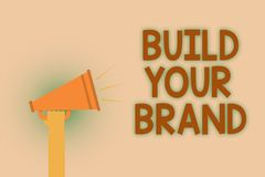 词文字文本修造您的品牌 Make的企业概念商业身分营销广告手褐色 皇族释放例证