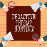 词文字文本前摄威胁狩猎 被聚焦的和重复方法的企业概念对寻找胡 皇族释放例证