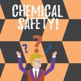 词文字文本化学安全 实践使减到最小的风险曝光化学制品的企业概念任何环境 皇族释放例证