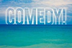 词文字文本喜剧电话 笑蓝色海滩wate的乐趣幽默讽刺情景喜剧欢闹耍笑的娱乐的企业概念 向量例证