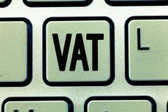 词文字文本大桶 另外的关税的企业概念在生产阶段的供应涨价 免版税库存图片
