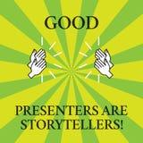 词文字文本好赠送者是讲故事者 伟大的通信装置的企业概念告诉优秀故事画胡 皇族释放例证
