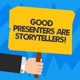 词文字文本好赠送者是讲故事者 伟大的通信装置的企业概念讲优秀故事胡 向量例证