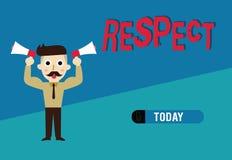 词文字文本尊敬 感觉的企业概念对某人或某事的深刻的倾慕欣赏 皇族释放例证
